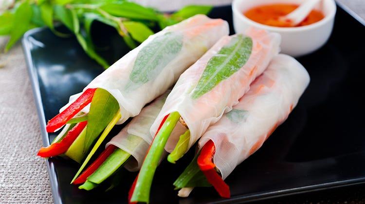 Vietnamese Pork Rice Paper Rolls